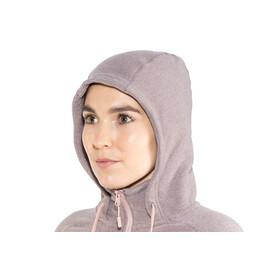 The North Face Mezzaluna Full Zip Hoodie Women Rabbit Grey Stripe